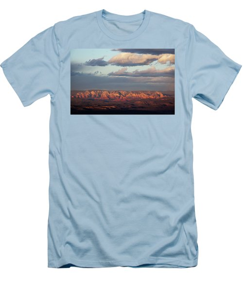 Red Rock Crossing, Sedona Men's T-Shirt (Slim Fit) by Ron Chilston