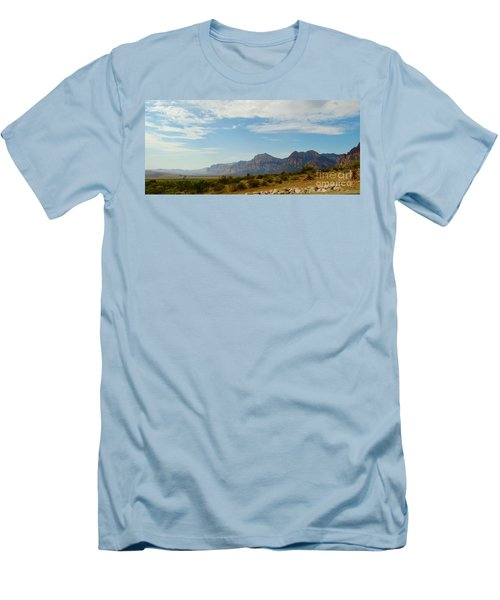 Red Rock Morning Panorama Men's T-Shirt (Athletic Fit)