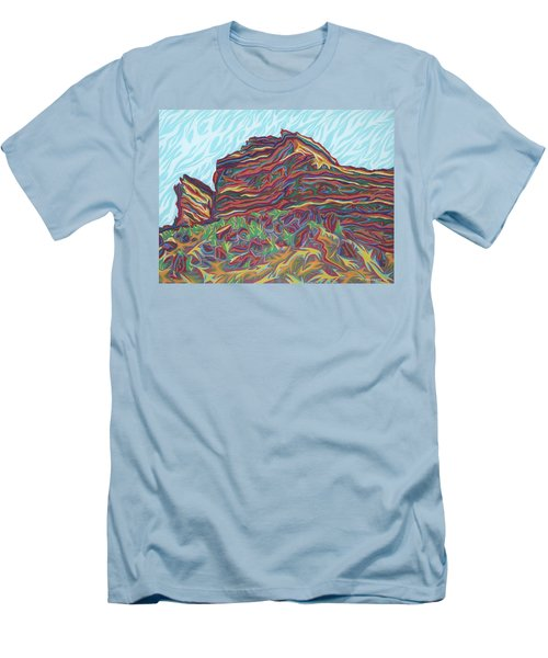 Red Rocks Men's T-Shirt (Slim Fit) by Robert SORENSEN