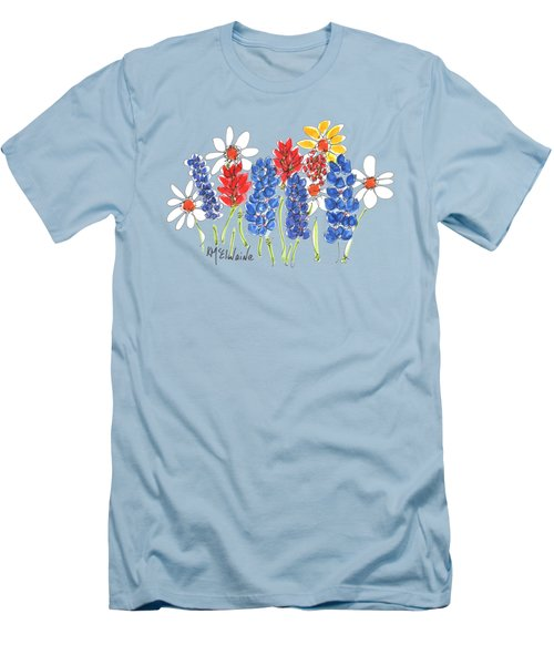 Red White And Blue Garden By Kmcelwaine Men's T-Shirt (Athletic Fit)