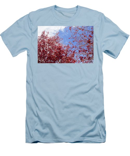 Men's T-Shirt (Athletic Fit) featuring the photograph Red White Blue Colors Of The Nature by Jingjits Photography