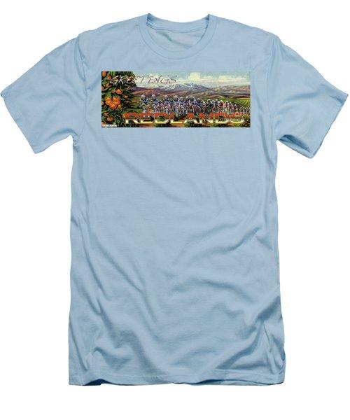 Redlands Greetings Men's T-Shirt (Slim Fit) by Linda Weinstock