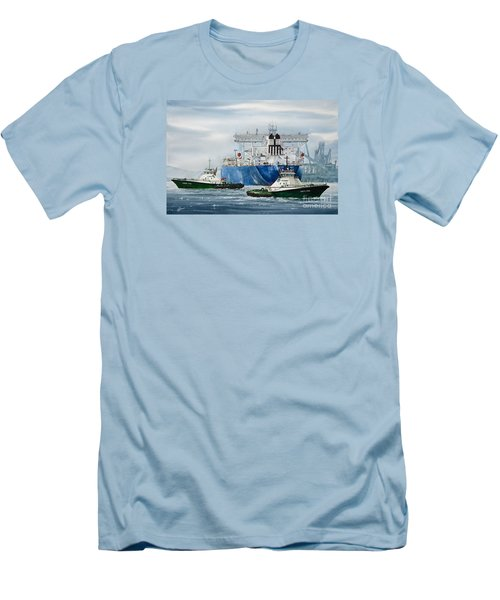 Refinery Tanker Escort Men's T-Shirt (Slim Fit) by James Williamson