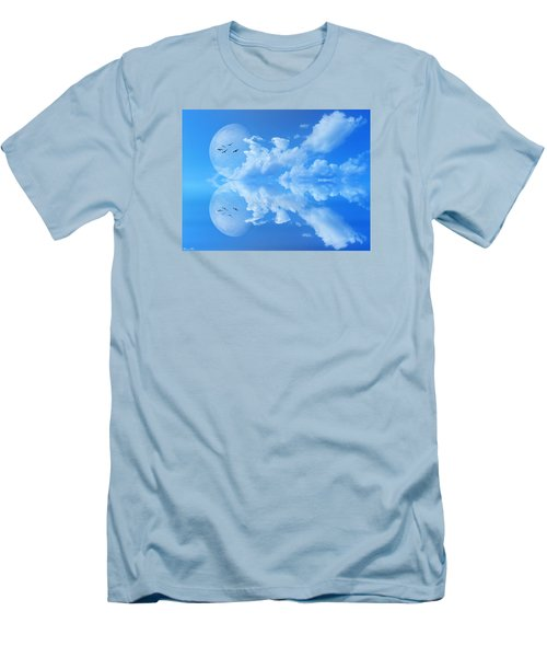 Men's T-Shirt (Slim Fit) featuring the photograph Reflections by Bernd Hau
