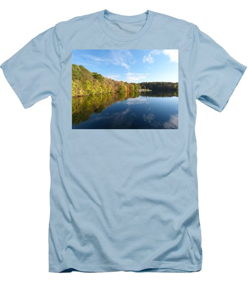 Men's T-Shirt (Slim Fit) featuring the photograph Reflections Of Autumn by Donald C Morgan