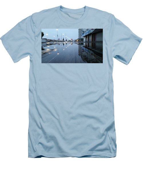 Reflections Of The Boardwalk Men's T-Shirt (Slim Fit) by Robert Banach