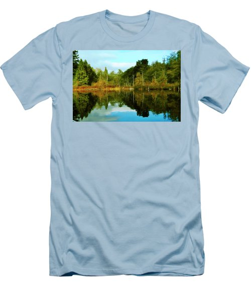 Men's T-Shirt (Slim Fit) featuring the digital art Reflections by Timothy Hack