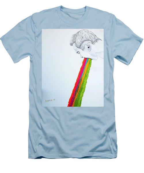 Men's T-Shirt (Slim Fit) featuring the painting Regurgitate by Edwin Alverio