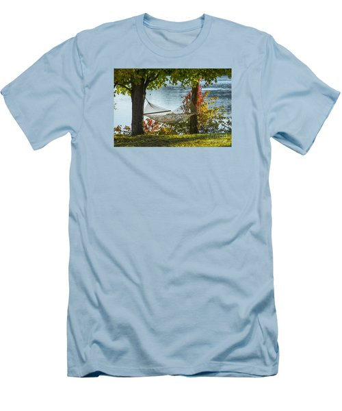 Relax By The Water Men's T-Shirt (Slim Fit) by Alana Ranney