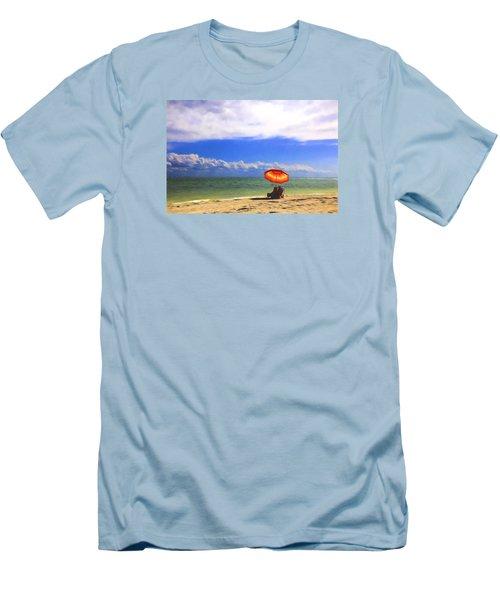 Men's T-Shirt (Slim Fit) featuring the digital art Relaxing On Sanibel by Sharon Batdorf