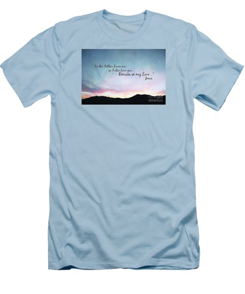 Remain In My Love - Digital Paint Effect Men's T-Shirt (Athletic Fit)