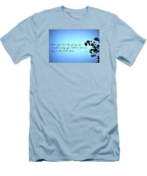 Remember Men's T-Shirt (Slim Fit) by Artists With Autism Inc