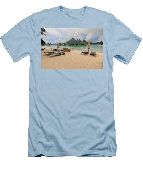 Men's T-Shirt (Slim Fit) featuring the photograph Resort Life by Sharon Jones