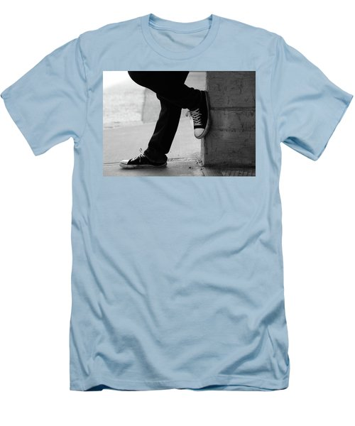 Men's T-Shirt (Slim Fit) featuring the photograph Rest Then Tackle  by Empty Wall