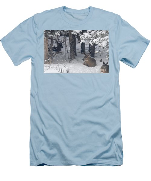 Resting Men's T-Shirt (Slim Fit) by Sandra Updyke