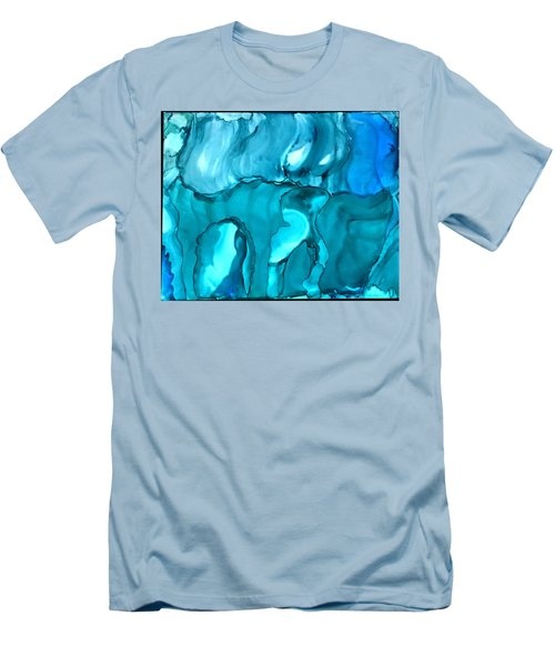 Rhabsody In Blue Men's T-Shirt (Athletic Fit)