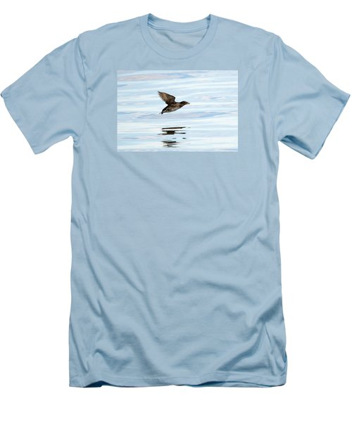 Rhinoceros Auklet Reflection Men's T-Shirt (Slim Fit) by Mike Dawson