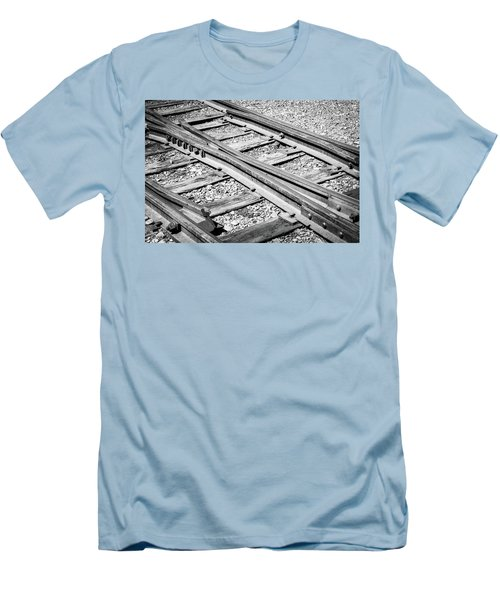Men's T-Shirt (Athletic Fit) featuring the photograph Riding The Rail by Colleen Coccia