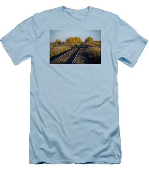 Riding The Rails Men's T-Shirt (Slim Fit) by Ellery Russell