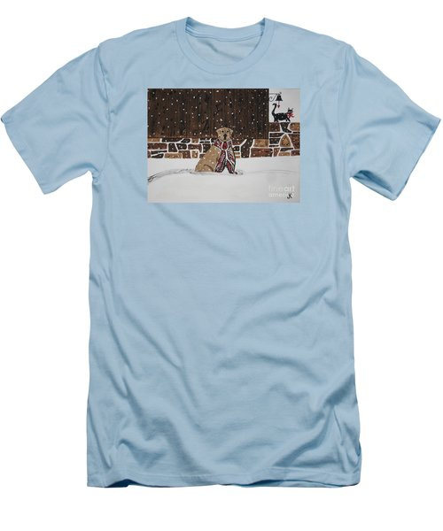 Men's T-Shirt (Slim Fit) featuring the painting Ring The Dinner Bell by Jeffrey Koss