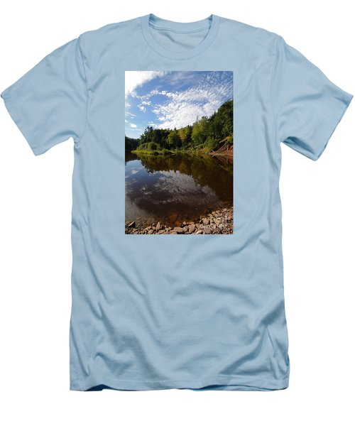 Men's T-Shirt (Slim Fit) featuring the photograph River Beauty by Sandra Updyke