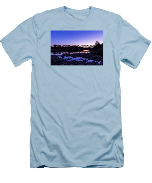 River Crossing Men's T-Shirt (Slim Fit) by Alan Raasch