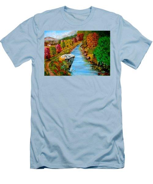 River Lousios  Men's T-Shirt (Athletic Fit)