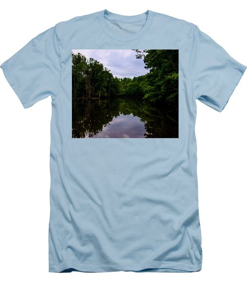 Men's T-Shirt (Slim Fit) featuring the digital art River Reflections by Chris Flees
