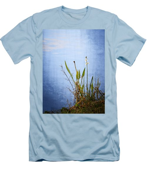 Men's T-Shirt (Slim Fit) featuring the photograph Riverbank Beauty by Carolyn Marshall