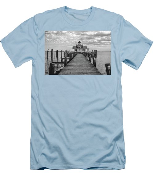 Roanoke Marshes Light Men's T-Shirt (Slim Fit) by David Sutton