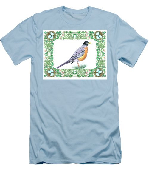 Robin In Spring Men's T-Shirt (Athletic Fit)
