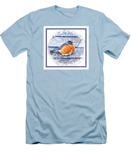 Robin Too Fat To Fly Men's T-Shirt (Athletic Fit)
