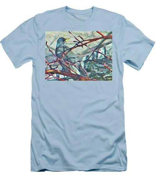 Robins Impression Of Spring Men's T-Shirt (Slim Fit)