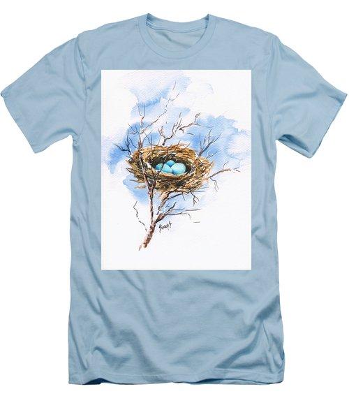 Robin's Nest Men's T-Shirt (Slim Fit) by Sam Sidders