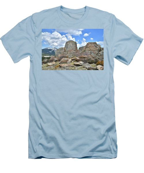 Rock Cropping At Big Horn Pass Men's T-Shirt (Athletic Fit)