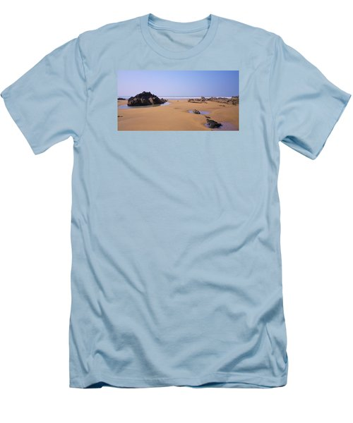 Rock Pools Men's T-Shirt (Slim Fit) by Richard Brookes