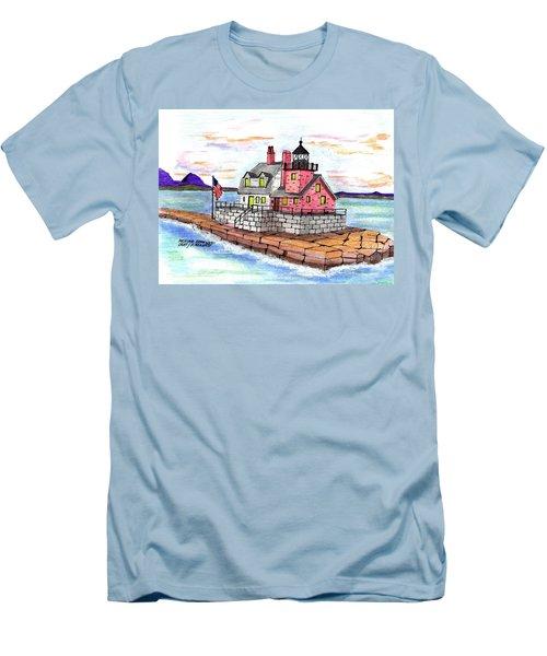 Rockland Breakwater Light Men's T-Shirt (Slim Fit) by Paul Meinerth