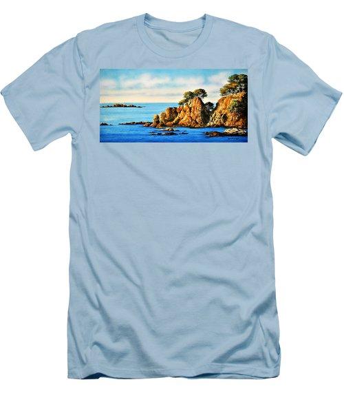 Rocks At Palafrugel,calella, Spain Men's T-Shirt (Athletic Fit)