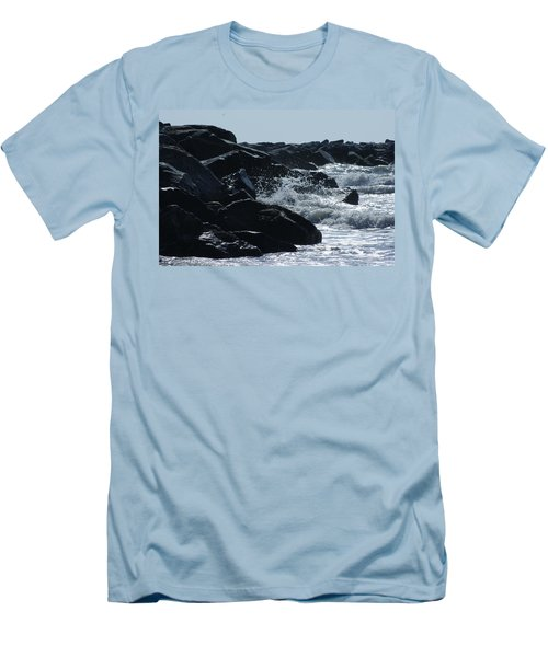 Rocks On The Jetti At Cocoa Beach Men's T-Shirt (Athletic Fit)