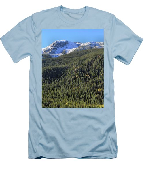 Men's T-Shirt (Slim Fit) featuring the photograph Rocky Mountain Evergreen Landscape by Dan Sproul