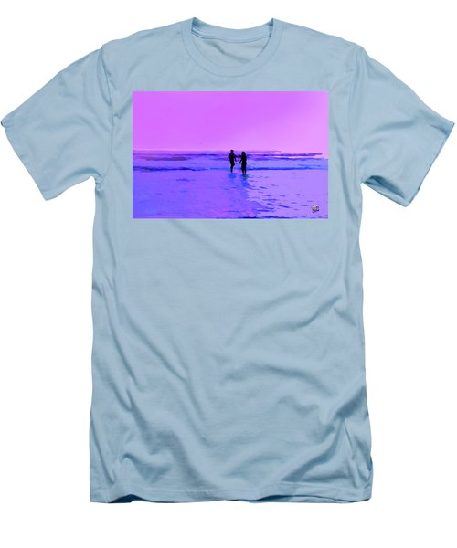 Romance On The Beach Men's T-Shirt (Athletic Fit)