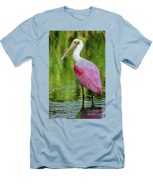 Roseate Spoonbill Portrait Men's T-Shirt (Athletic Fit)