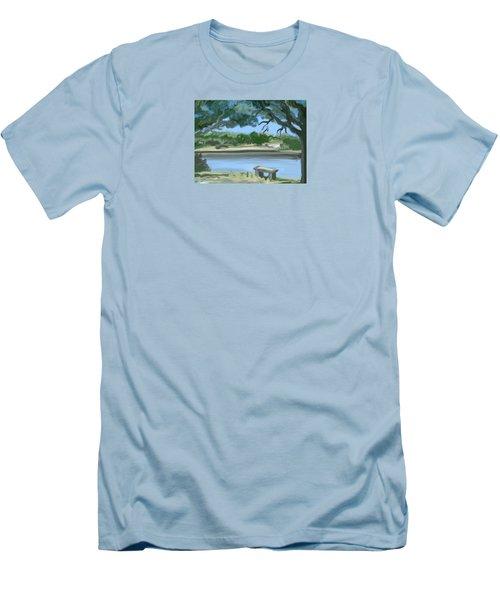 Rosemary Lake Men's T-Shirt (Slim Fit) by Jean Pacheco Ravinski