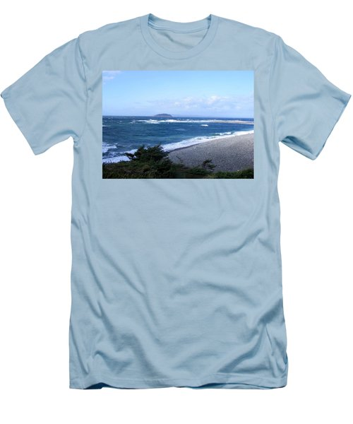 Men's T-Shirt (Slim Fit) featuring the photograph Rough Day On The Point by Barbara Griffin