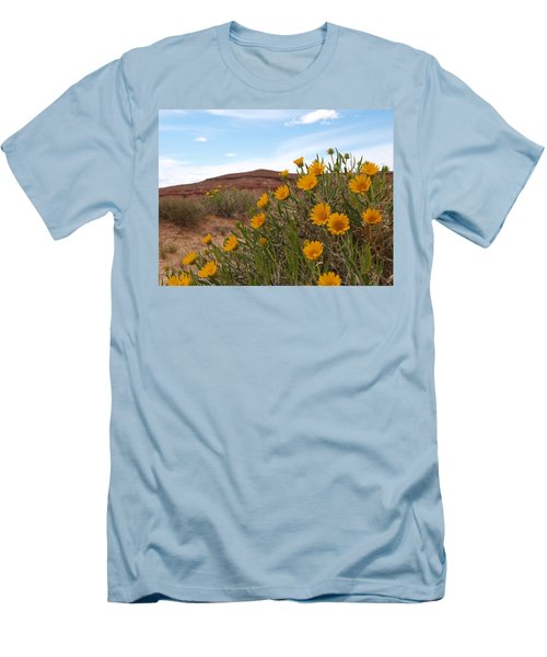 Rough Mulesear Flowers Men's T-Shirt (Slim Fit) by Jenessa Rahn