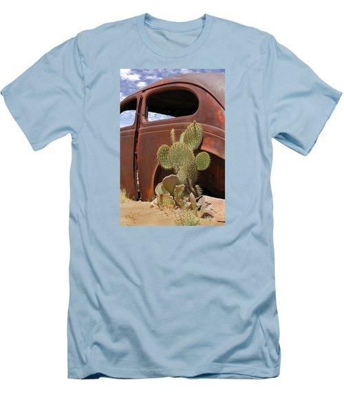 Route 66 Cactus Men's T-Shirt (Slim Fit) by Mike McGlothlen