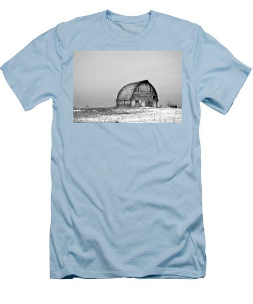 Royal Barn Bw Men's T-Shirt (Slim Fit) by Bonfire Photography