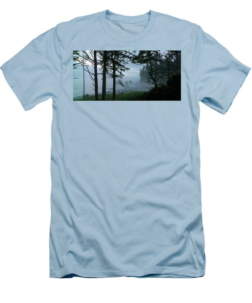 Ruby Beach II Washington State Men's T-Shirt (Slim Fit) by Greg Reed
