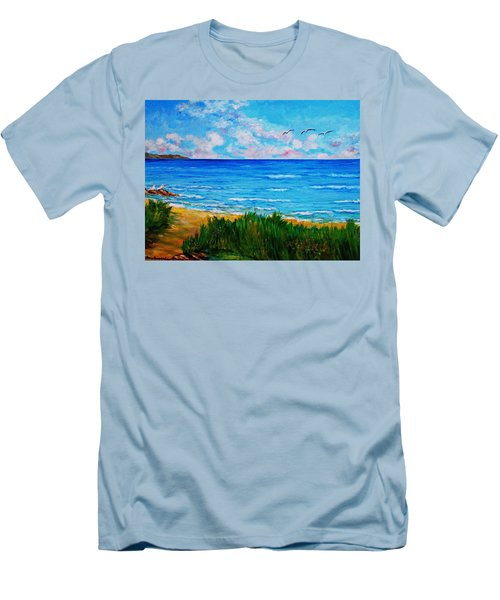 Rullsands Beach / Sweden-gaevle Men's T-Shirt (Athletic Fit)