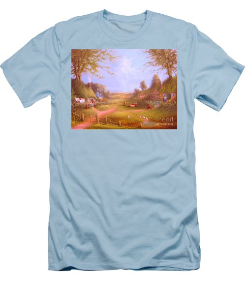 Run Bilbo Late For An Appointment Men's T-Shirt (Slim Fit) by Joe  Gilronan